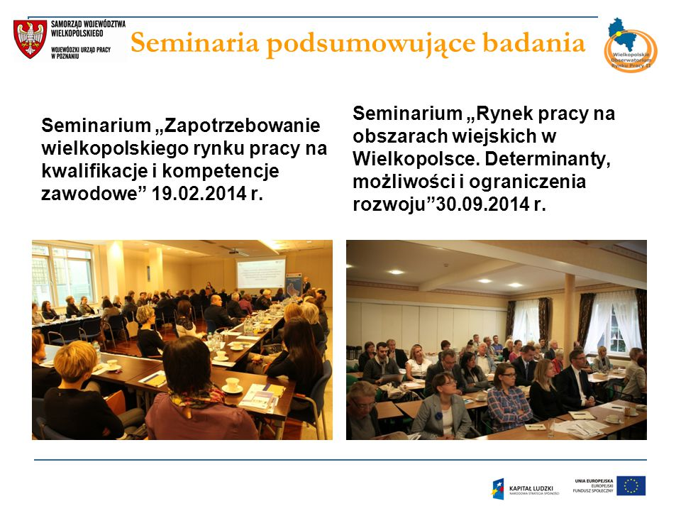 Seminaria podsumowujące badania