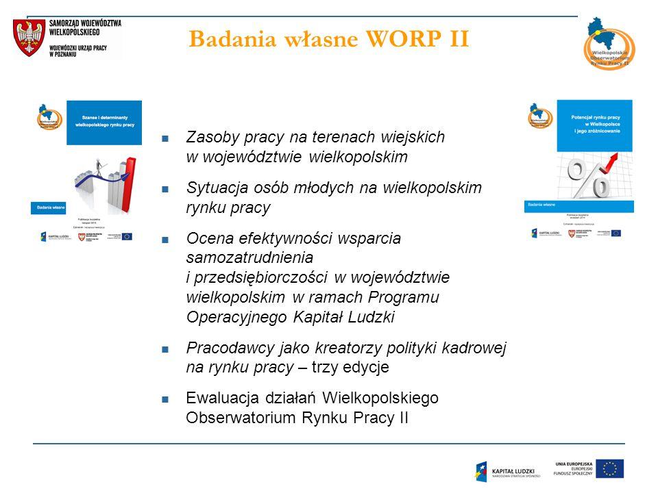 Badania własne WORP II Zasoby pracy na terenach wiejskich w województwie wielkopolskim. Sytuacja osób młodych na wielkopolskim rynku pracy.