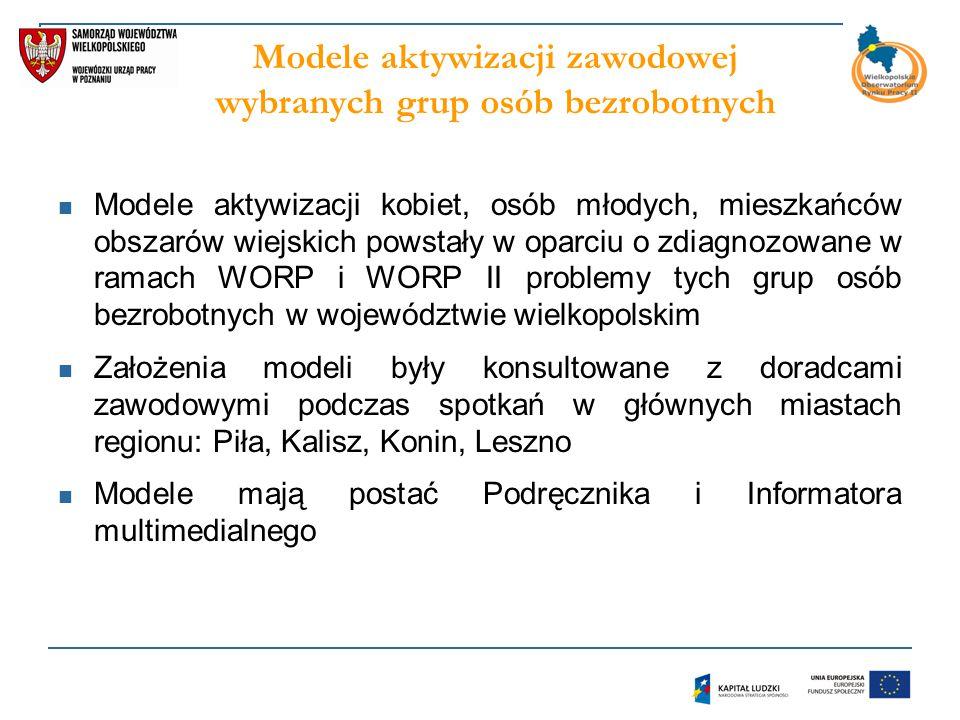 Modele aktywizacji zawodowej wybranych grup osób bezrobotnych