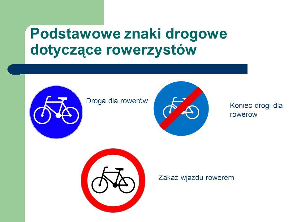 Podstawowe znaki drogowe dotyczące rowerzystów