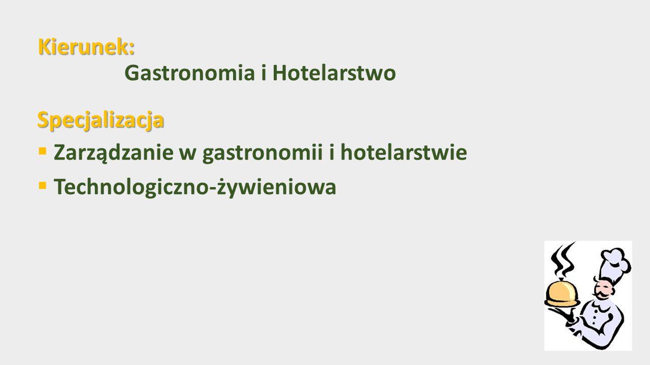 Kierunek: Gastronomia i Hotelarstwo
