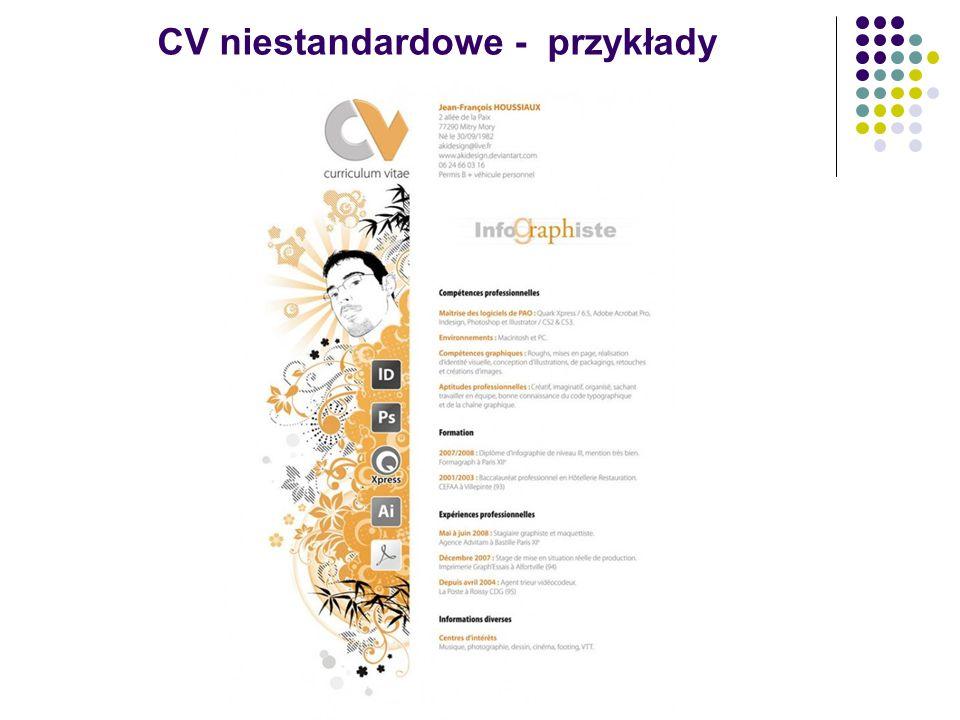 CV niestandardowe - przykłady