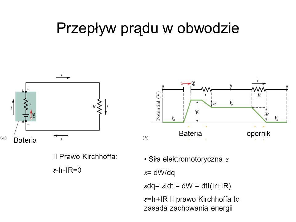 Przepływ prądu w obwodzie