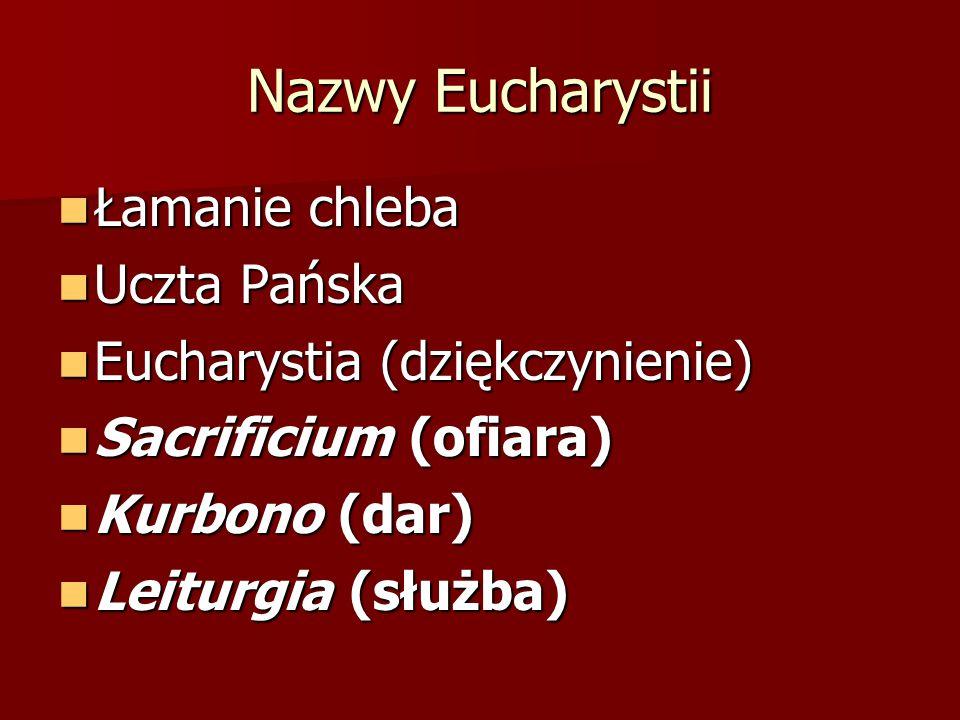 Nazwy Eucharystii Łamanie chleba Uczta Pańska