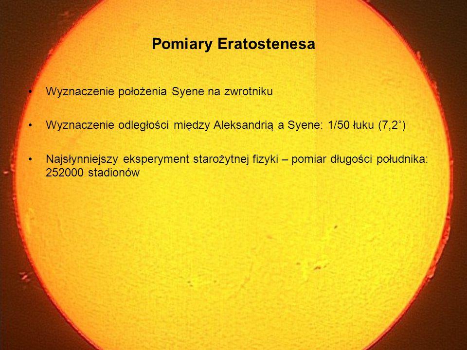 Pomiary Eratostenesa Wyznaczenie położenia Syene na zwrotniku