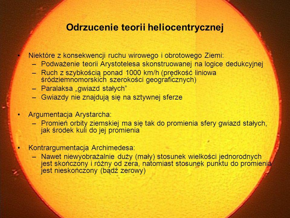 Odrzucenie teorii heliocentrycznej