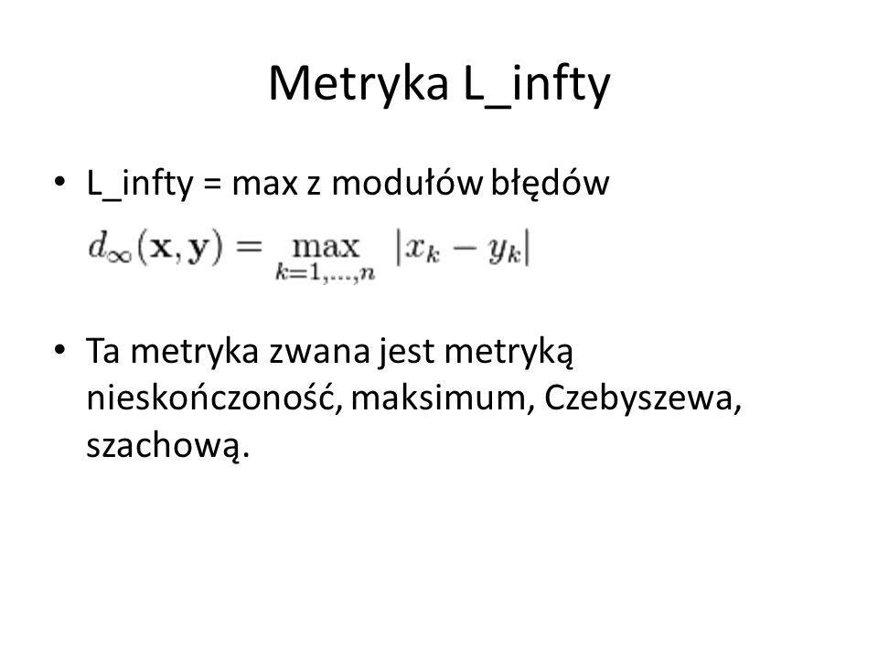 Metryka L_infty L_infty = max z modułów błędów