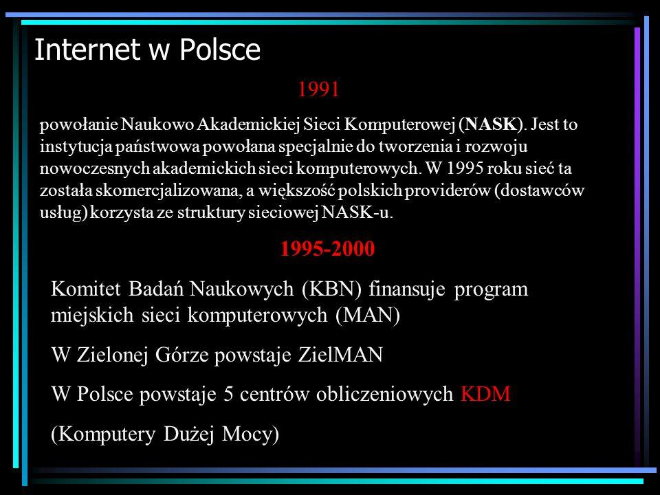 Internet w Polsce 1991.