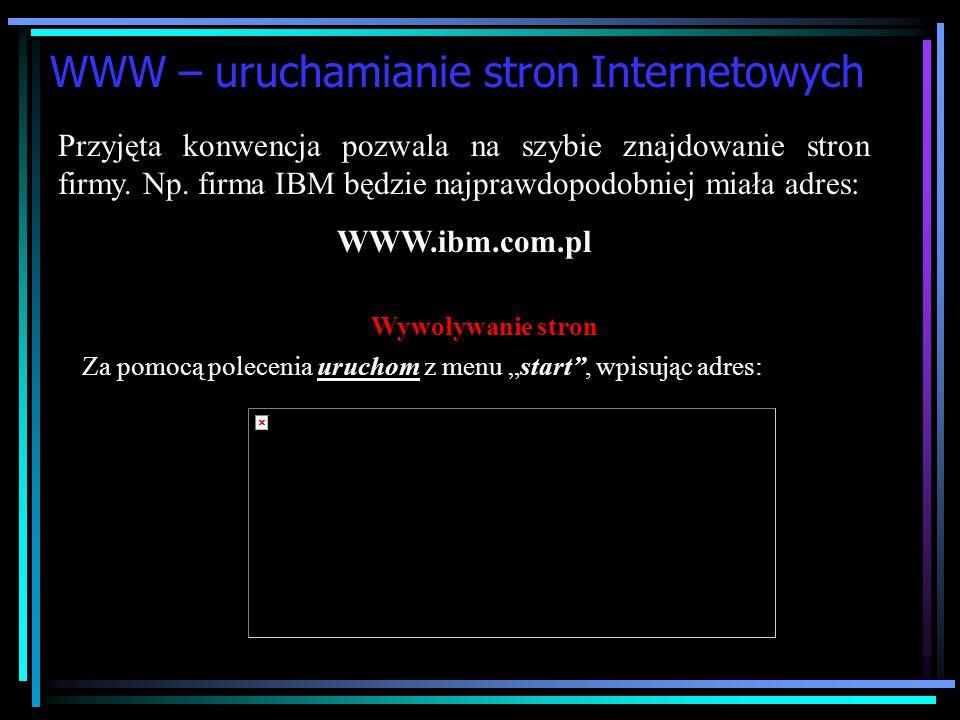 WWW – uruchamianie stron Internetowych