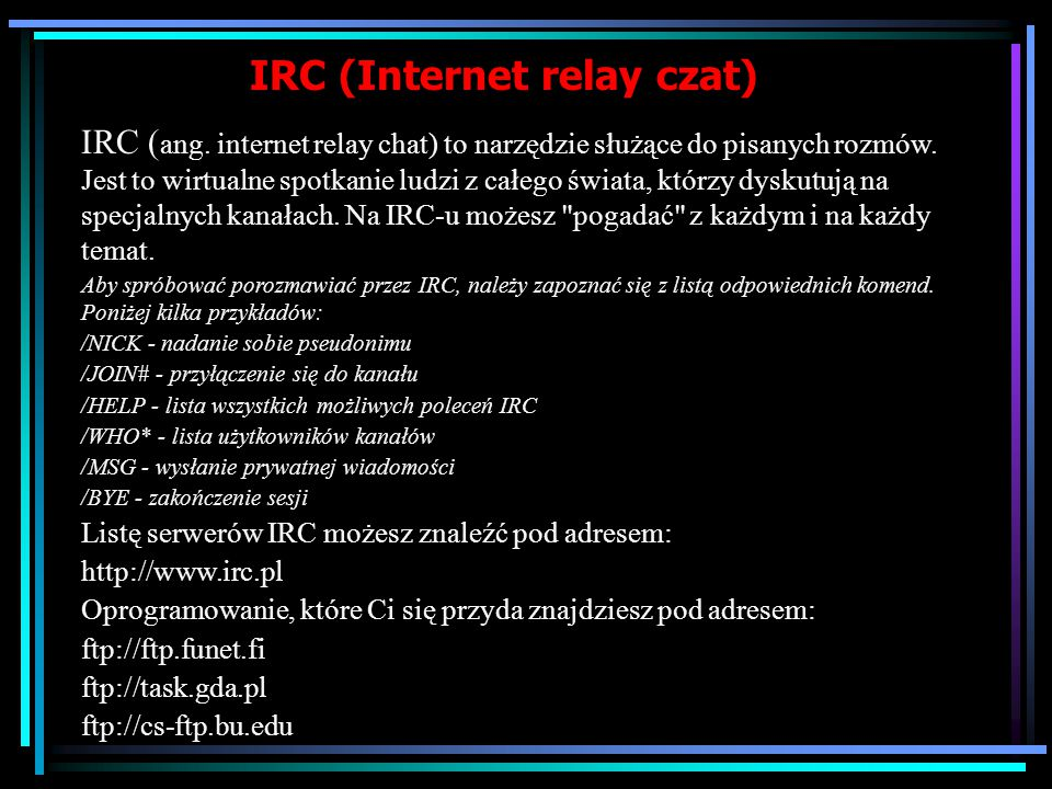 IRC (Internet relay czat)