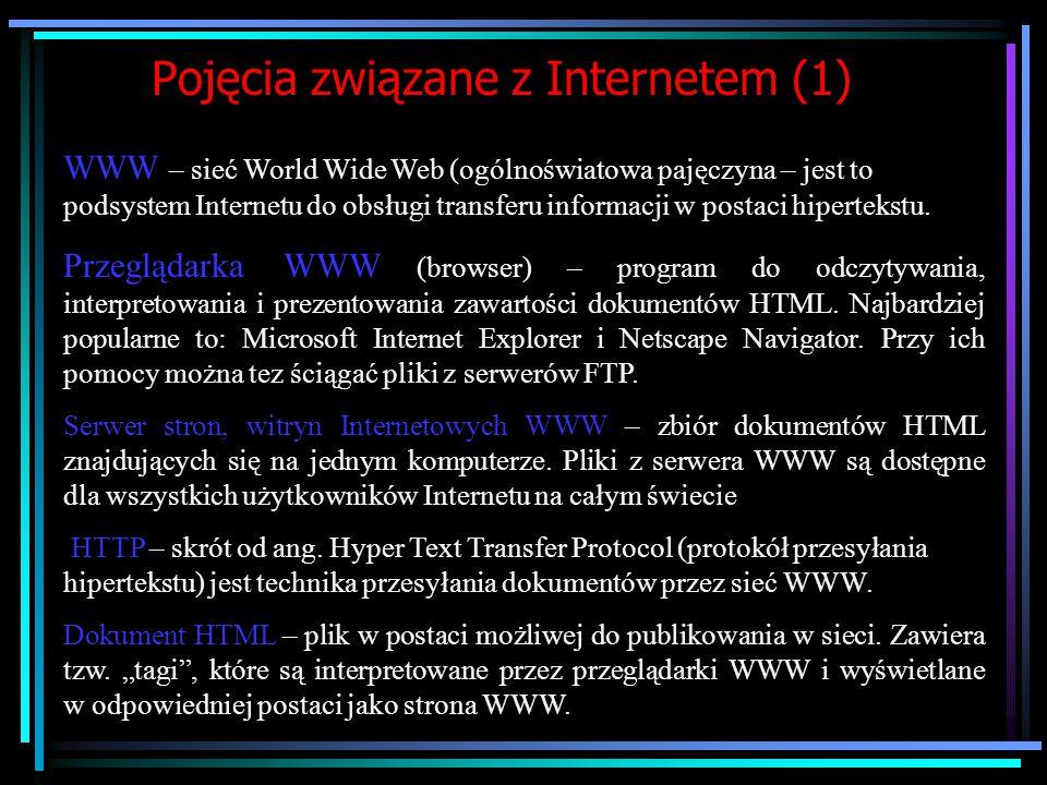 Pojęcia związane z Internetem (1)