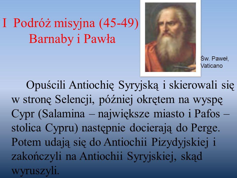 I Podróż misyjna (45-49) Barnaby i Pawła
