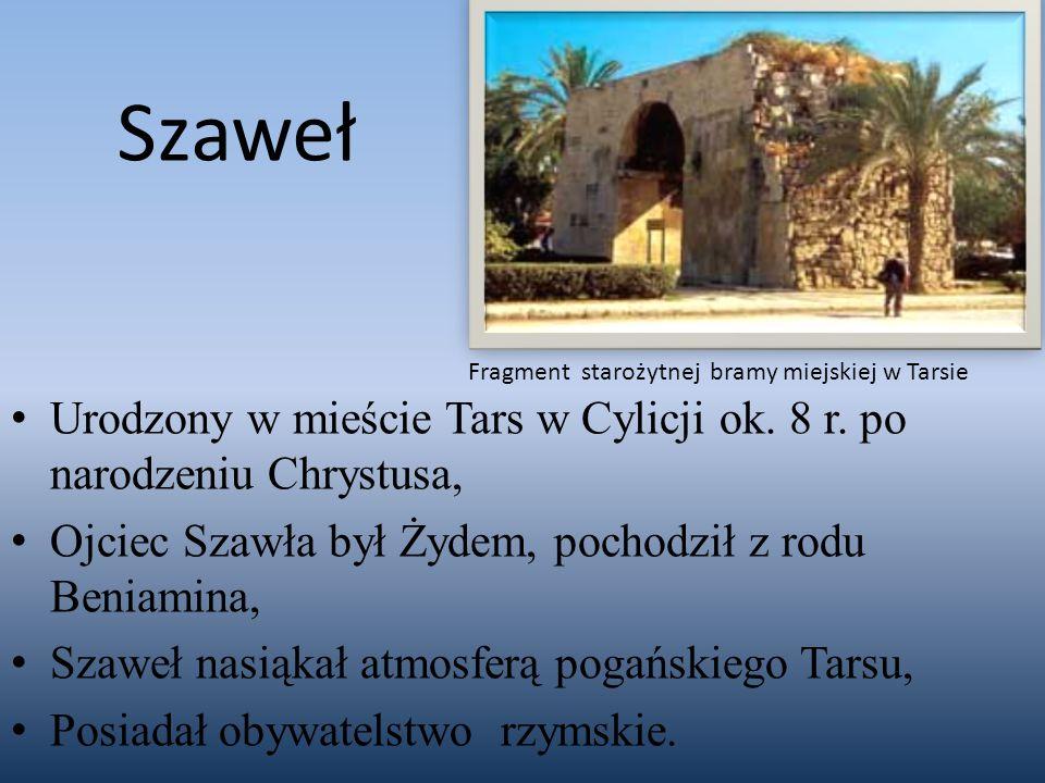 Szaweł Fragment starożytnej bramy miejskiej w Tarsie. Urodzony w mieście Tars w Cylicji ok. 8 r. po narodzeniu Chrystusa,