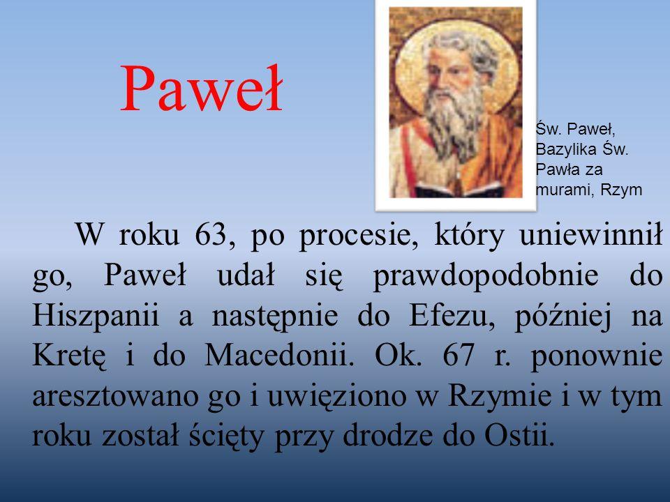 Paweł Św. Paweł, Bazylika Św. Pawła za murami, Rzym.