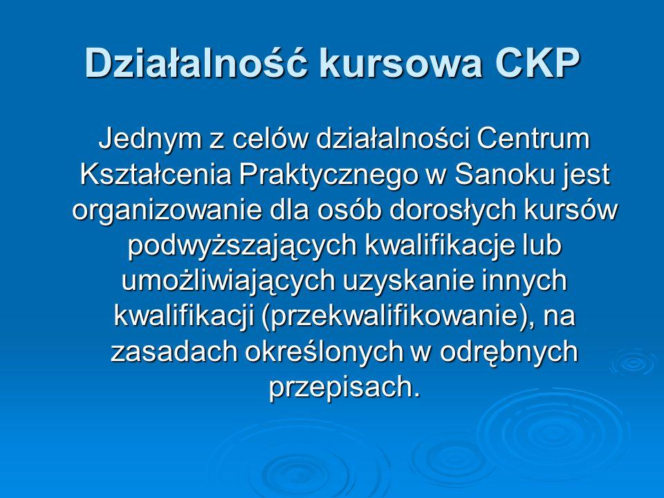 Działalność kursowa CKP