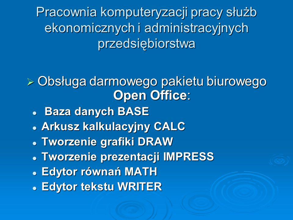Obsługa darmowego pakietu biurowego Open Office: