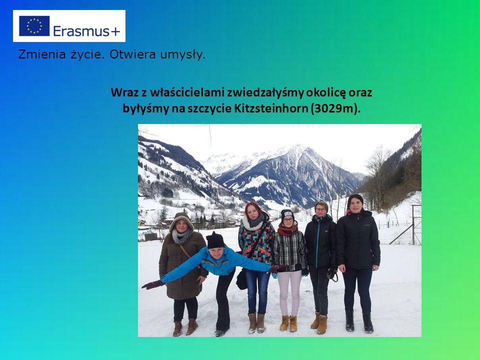 Wraz z właścicielami zwiedzałyśmy okolicę oraz byłyśmy na szczycie Kitzsteinhorn (3029m).