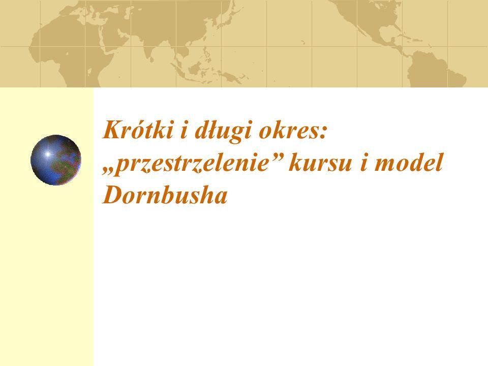 """Krótki i długi okres: """"przestrzelenie kursu i model Dornbusha"""