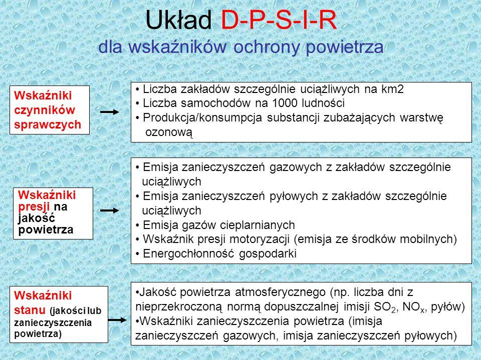 Układ D-P-S-I-R dla wskaźników ochrony powietrza
