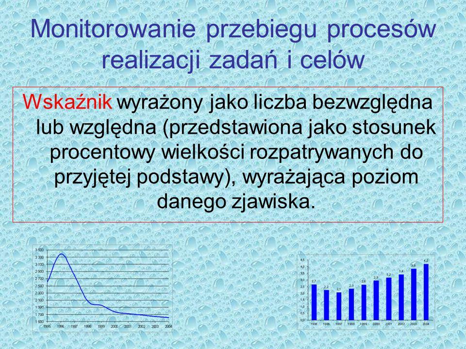 Monitorowanie przebiegu procesów realizacji zadań i celów