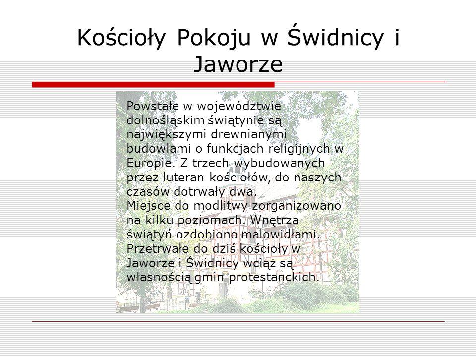 Kościoły Pokoju w Świdnicy i Jaworze