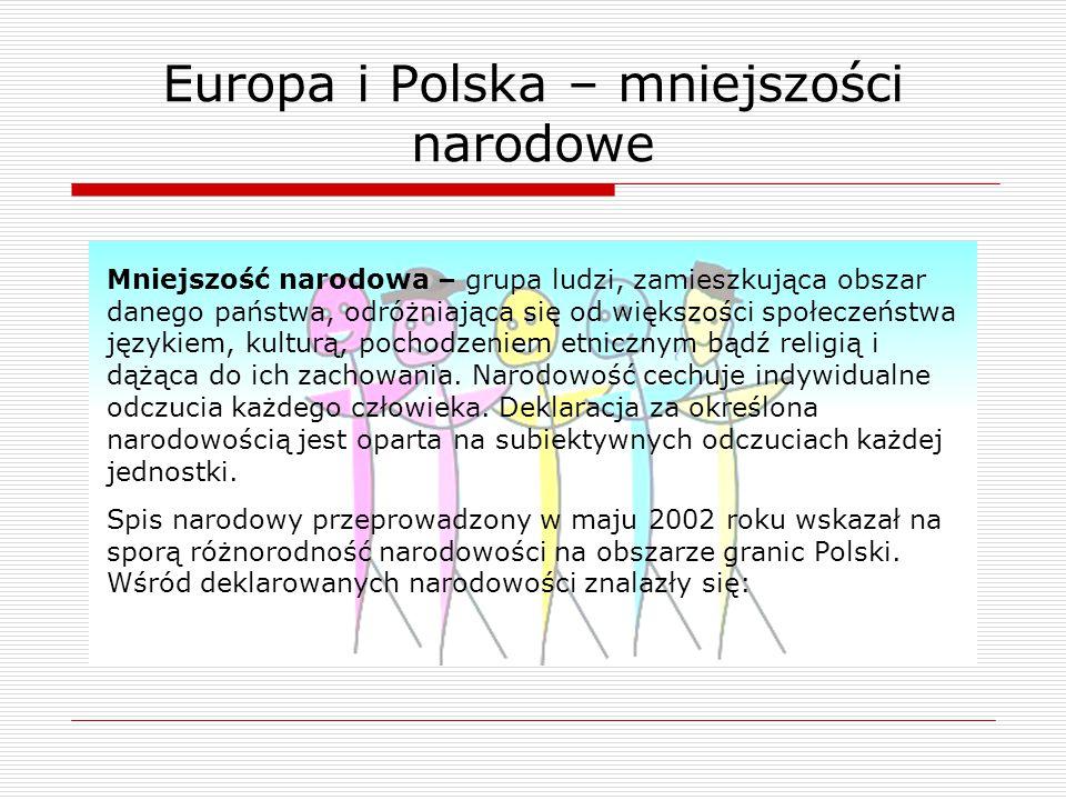 Europa i Polska – mniejszości narodowe