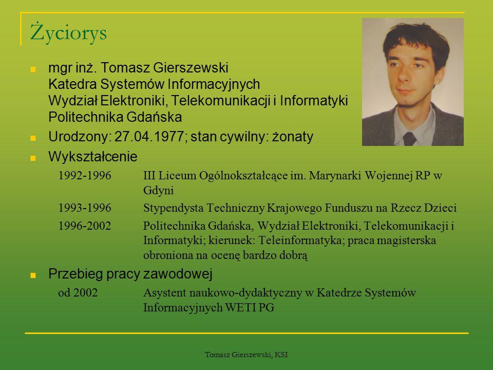 Tomasz Gierszewski, KSI