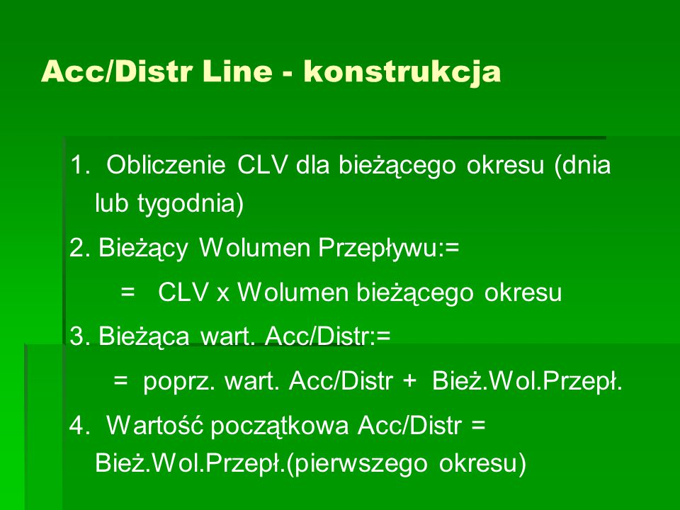 Acc/Distr Line - konstrukcja