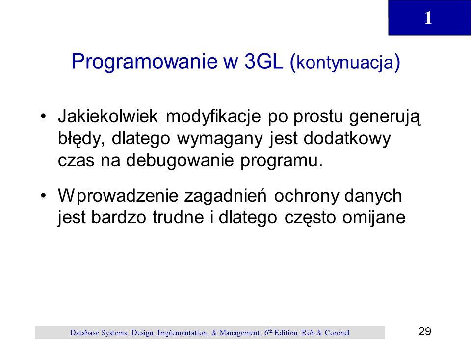 Programowanie w 3GL (kontynuacja)