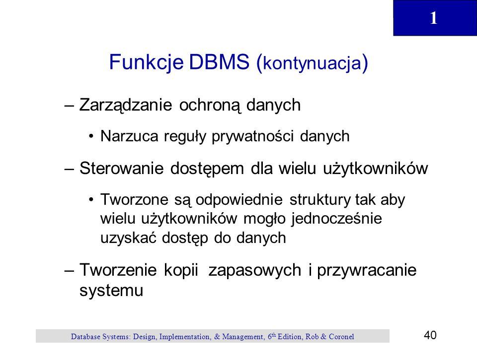 Funkcje DBMS (kontynuacja)