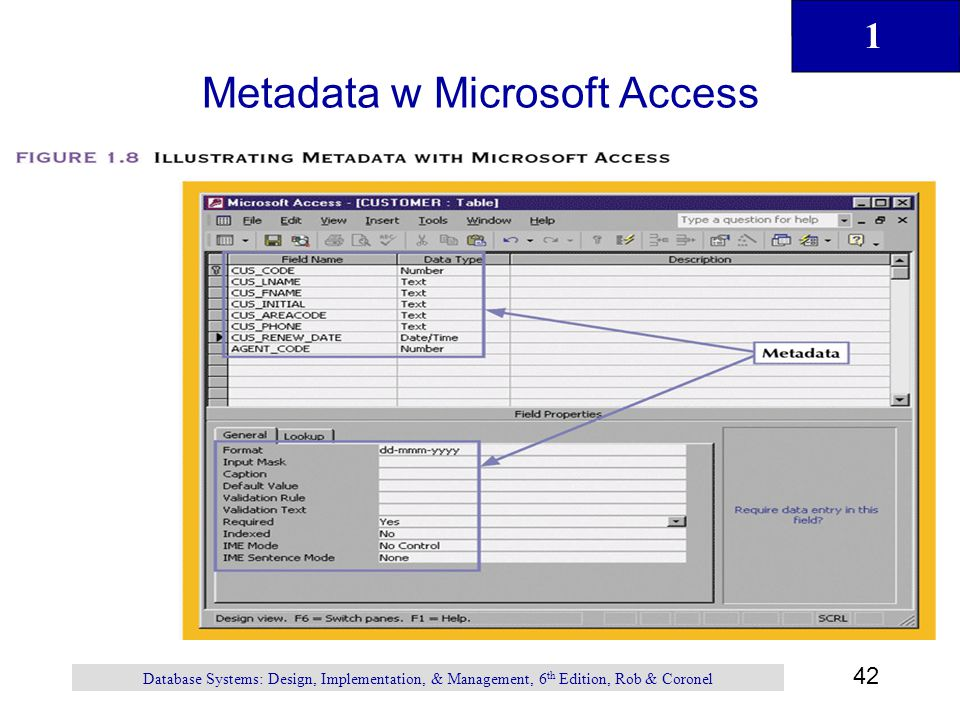 Metadata w Microsoft Access