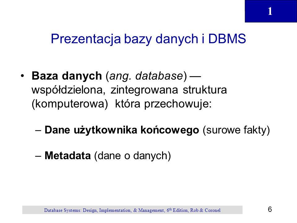 Prezentacja bazy danych i DBMS