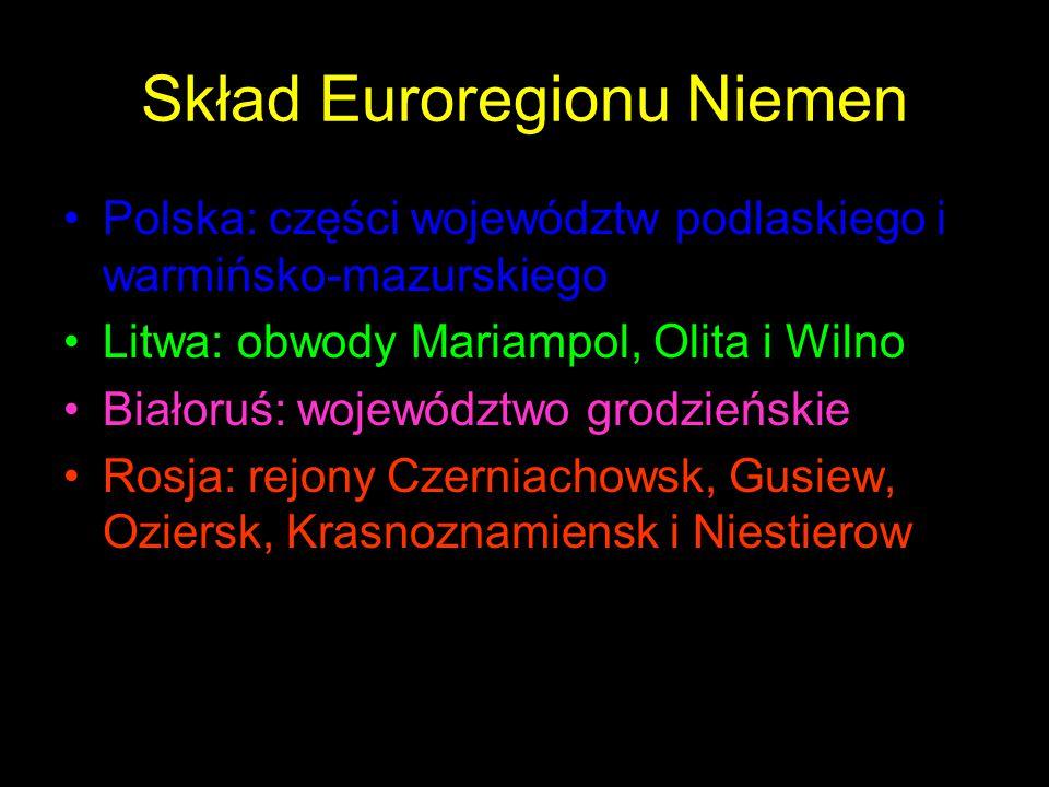 Skład Euroregionu Niemen