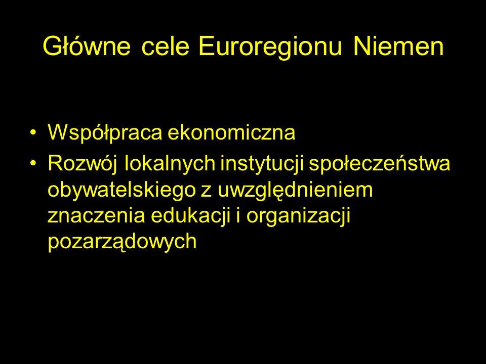 Główne cele Euroregionu Niemen
