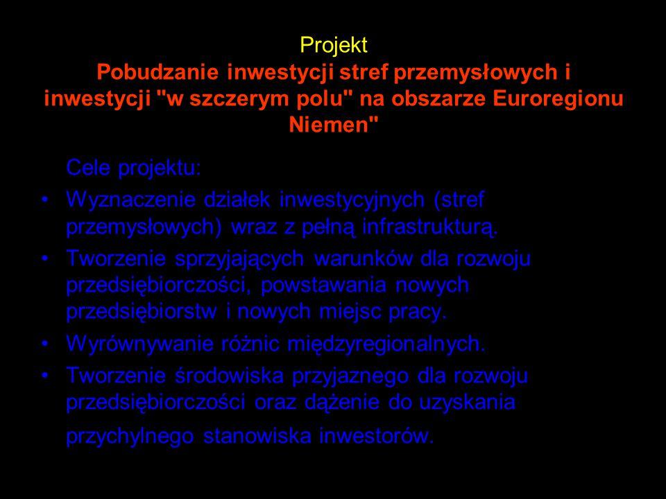 Projekt Pobudzanie inwestycji stref przemysłowych i inwestycji w szczerym polu na obszarze Euroregionu Niemen