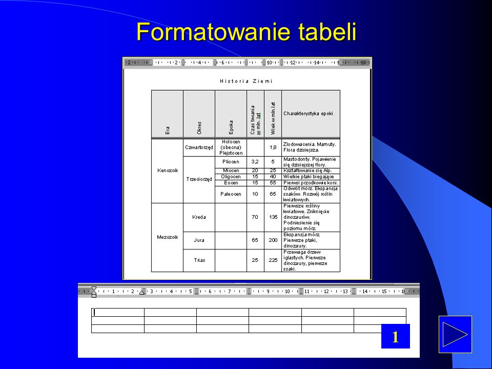 Formatowanie tabeli 1