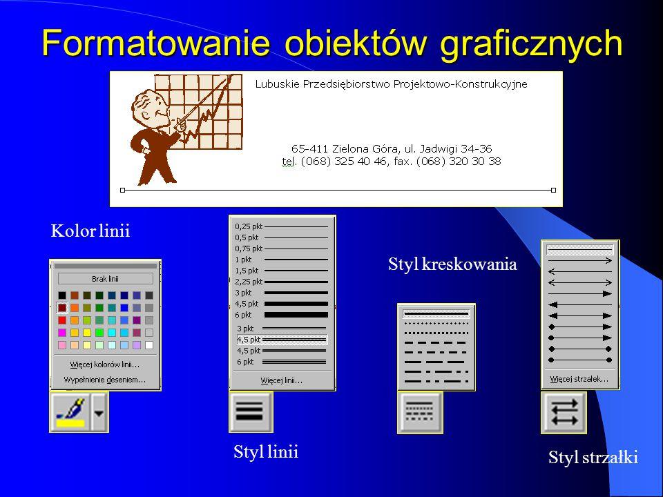 Formatowanie obiektów graficznych