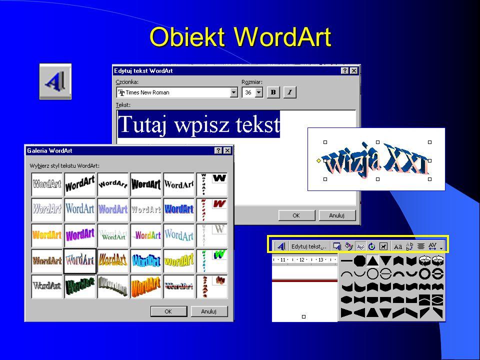 Obiekt WordArt