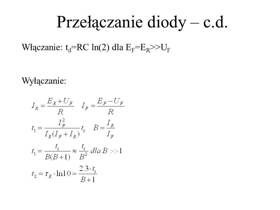 Przełączanie diody – c.d.