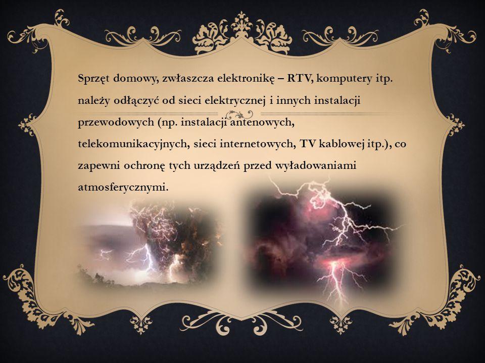 Sprzęt domowy, zwłaszcza elektronikę – RTV, komputery itp