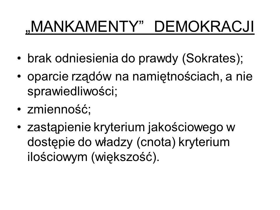 """""""MANKAMENTY DEMOKRACJI"""