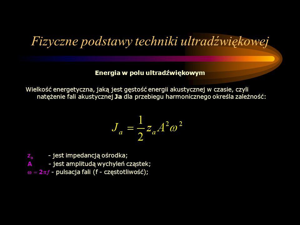 Fizyczne podstawy techniki ultradźwiękowej
