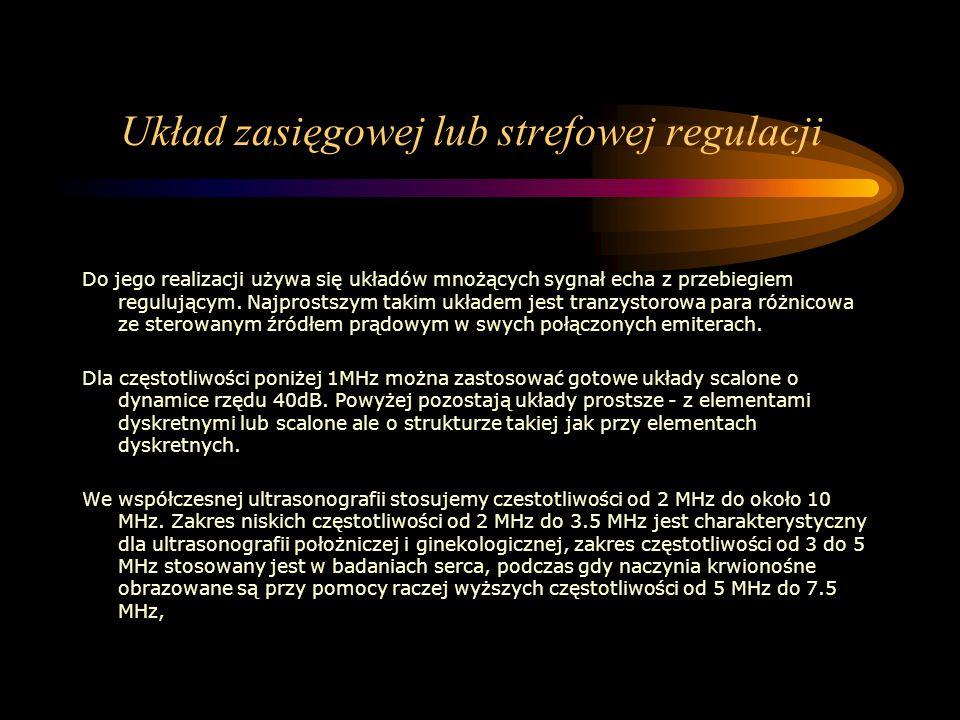 Układ zasięgowej lub strefowej regulacji