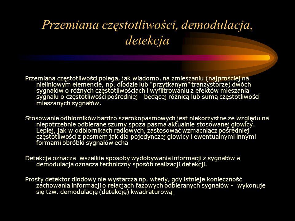 Przemiana częstotliwości, demodulacja, detekcja