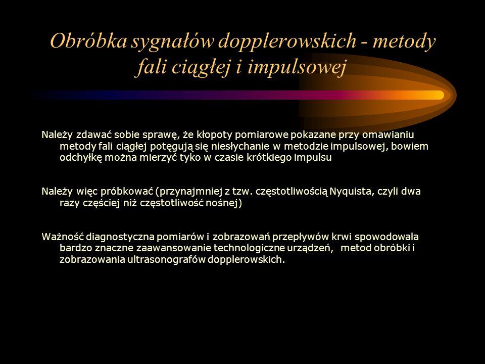 Obróbka sygnałów dopplerowskich - metody fali ciągłej i impulsowej