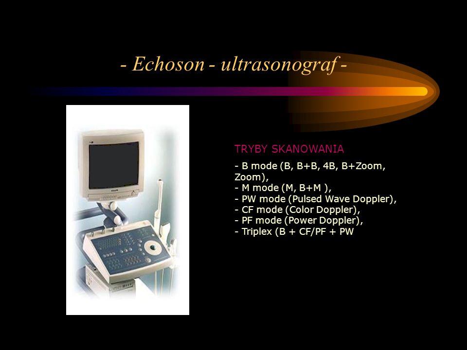 - Echoson - ultrasonograf -