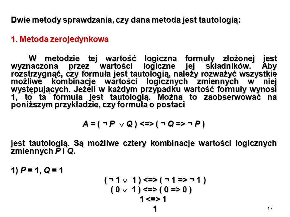 A = ( ¬ P  Q ) <=> ( ¬ Q => ¬ P )
