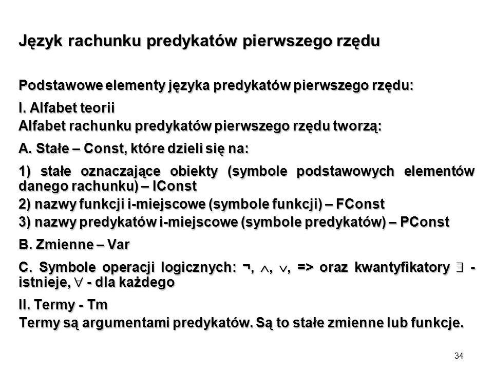 Język rachunku predykatów pierwszego rzędu