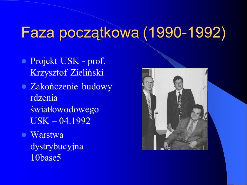 Faza początkowa (1990-1992) Projekt USK - prof. Krzysztof Zieliński