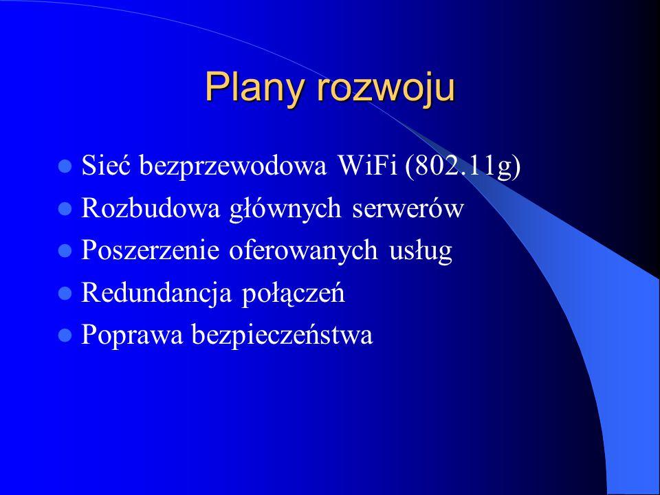 Plany rozwoju Sieć bezprzewodowa WiFi (802.11g)
